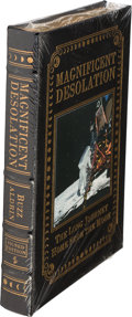 Explorers:Space Exploration, Buzz Aldrin Signed Leather-Bound Limited Edition Books (Five Copies, Still Sealed): Magnificent Desolation, Origin... (Total: 5 Items)