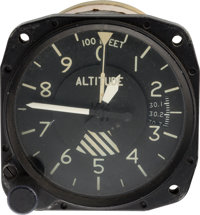 Neil Armstrong: Cessna Altimeter Owned by Neil Armstrong Directly From The Armstrong Family Collection™, Certified by Co...