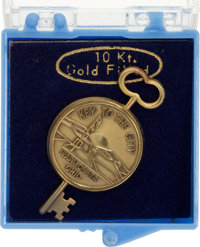 """Wapakoneta: """"Key To The City"""" Tie Tac in 10K Gold-Filled Directly From The Armstrong Family Collection™, Certi..."""