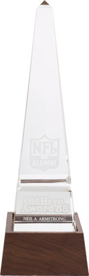 "Neil Armstrong's NFL Alumni ""Old Hero Award"" from 1988 Directly From The Armstrong Family Collection™, Certifi..."