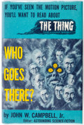 Books:General, Who Goes There?: Seven Tales of Science Fiction by John W. Campbell Jr. (Shasta Publishers, 1951)....