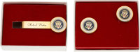 Neil Armstrong: Richard Nixon Presidential Seal Cufflinks and Tie Clasp Directly From The Armstrong Family Collection™...