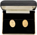 Explorers:Space Exploration, Neil Armstrong: Gold City of Glasgow Coat of Arms Cuff Links, Directly From The Armstrong Family Collection™, Certified by Col...