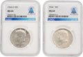 Explorers:Space Exploration, 1964 and 1964-D 50¢ MS64 NGC Kennedy Silver Half Dollars (Two) Directly From The Armstrong Family Collection™, Certifi... (Total: 2 Items)