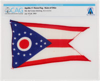 Apollo 11 Lunar Module Flown Flag of Neil Armstrong's Home State of Ohio Directly From The Armstrong Family Collection™...