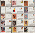 Autographs:Letters, Wilt Chamberlain Signed Photograph with 18 Signed First Day Covers....