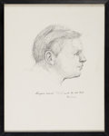 Explorers:Space Exploration, Sketch of Neil Armstrong by Neil Caldwell Directly From The Armstrong Family Collection™, Certified by Collectibles Authentica...