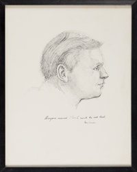 Sketch of Neil Armstrong by Neil Caldwell Directly From The Armstrong Family Collection™, Certified by Collectibles Auth...