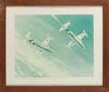 Explorers:Space Exploration, Douglas Ettridge Planes Print Directly From The Armstrong Family Collection™, Certified by Collectibles Authentication Guarant...
