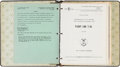 Explorers:Space Exploration, Aviation: U.S. Government Binder with Multiple T-38 and T-38A Pilot Training Manuals, 1967-1969, Some Signed, Directly Fro...