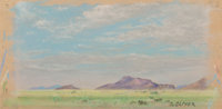 Josephine Oliver Travis (American, 1908-1991) Untitled Pastel on paper 4-5/8 x 8-7/8 inches (11.7