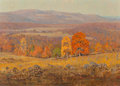 Paintings, Olin Travis (American, 1888-1975). November in the Ozarks. Oil on canvas. 20 x 28 inches (50.8 x 71.1 cm). Signed lower ...