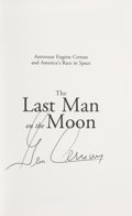 Explorers:Space Exploration, Gene Cernan Signed Book: The Last Man on the Moon....