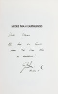 Explorers:Space Exploration, Jim Irwin Signed Book: More Than Earthlings. ...