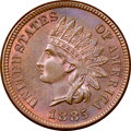 1885 1C MS65 Red and Brown NGC. Designated Red and Brown by NGC, this Gem 1885 Indian cent displays chocolate-brown colo...