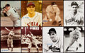 Autographs:Photos, Earl Averill and Lou Boudreau Signed Photograph Lot of 19.. ...