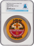 Explorers:Space Exploration, Boy Scouts: 1910-1960 Jubilee Camporee Patch Directly From The Armstrong Family Collection™, Certified and Encapsulated by Col...