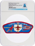 Explorers:Space Exploration, Boy Scouts: Central Ohio Council Patch Directly From The Armstrong Family Collection™, Certified and Encapsulated by Collectib...