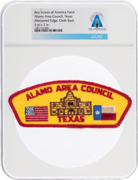 Boy Scouts: Alamo Area Council Texas Patch Directly From The Armstrong Family Collection™, Certified and Encapsulated by...
