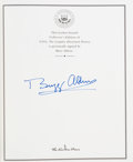 Explorers:Space Exploration, Buzz Aldrin Signed Leather-Bound Limited Edition Book: NASA, The Complete Illustrated History, Originally from His...