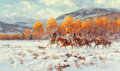 Fine Art - Painting, American, Roy Andersen (American, b. 1930). When the Seasons Meet. Oilon canvas. 30 x 50 inches (76.2 x 127 cm). Signed lower rig...