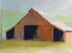 Wolf Kahn (American, b. 1927) Tennessee Horse Barn, 1982 Oil on canvas 26 x 36 inches (66.0 x 91.4 cm) Dated and tit