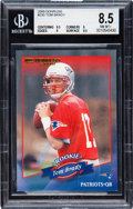 Football Cards:Singles (1970-Now), 2000 Donruss Tom Brady #230 BGS NM-MT+ 8.5 - Numbered 232/1325....