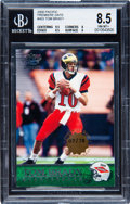 Football Cards:Singles (1970-Now), 2000 Pacific Tom Brady Premiere Date #403 BGS NM-MT+ 8.5 - Numbered 7/78. ...