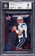 Football Cards:Singles (1970-Now), 2000 Leaf Rookies & Stars Tom Brady Longevity #134 BGS Mint 9 - Numbered 28/30....