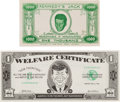 Political:Small Paper (1896-present), [Richard Nixon]: Anti-Kennedy Funny Money. ... (Total: 2 Items)