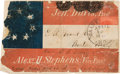 Political:Small Paper (1896-present), Jefferson Davis: Patriotic Cover Panel with Political Commentary. ...