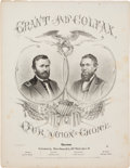 Political:Small Paper (pre-1896), Grant & Colfax: Large Format Jugate Sheet Music....