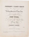 Political:Small Paper (pre-1896), John Tyler: Presidential Sheet Music....