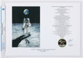 Explorers:Space Exploration, Apollo 11: Flight of the Eagle - First Moon Landing Print Signed Directly From The Armstrong Family Collection™, Certified and...