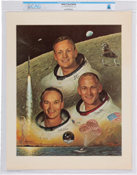 Apollo 11: Crew Print Directly From The Armstrong Family Collection™, Certified and Encapsulated by Collectibles Authent...