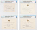 Explorers:Space Exploration, Gemini Goodwill Tour: Four Invitations While in Bolivia Directly from The Armstrong Family Collection™, Certified and Encapsul... (Total: 4 Items)