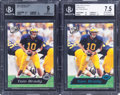 Football Cards:Singles (1970-Now), 2000 Press Pass Tom Brady #37 BGS Graded Pair (2) - Includes Torquers.... (Total: 2 items)