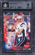 Football Cards:Singles (1970-Now), 2000 Leaf Rookies & Stars Tom Brady #134 BGS Mint 9 - Numbered 422/1000 - .5 Away from BGS Gem Mint 9.5....