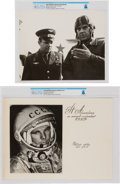 Explorers:Space Exploration, Soviet Union 1970 Visit: COSPAR XIII Conference Album Cover and Photo of Cosmonaut Yuri Gagarin Directly From The Armstrong Fa... (Total: 2 Items)
