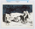Explorers:Space Exploration, Astronauts on Lunar Surface Lithograph Directly From The Armstrong Family Collection™, Certified and Encapsulated by C...