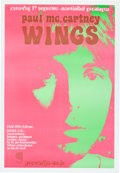 Music Memorabilia:Posters, Beatles - Paul McCartney and Wings Very Rare Groningen DutchConcert Poster (Holland, 1972)....