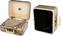 "Music Memorabilia:Memorabilia, Elvis Presley ""Autograph Model"" Portable RCA Manual Record Player(1956)...."