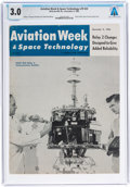 Explorers:Space Exploration, Neil Armstrong: Aviation Week & Space Technology Magazine Dated December, 1963 Sent to Armstrong's NASA Houston Ad...