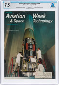 Explorers:Space Exploration, Neil Armstrong: Aviation Week & Space Technology Magazine Dated August, 1968 Sent to Armstrong's NASA Houston Addr...
