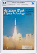 Explorers:Space Exploration, Neil Armstrong: Aviation Week & Space Technology Magazine Dated January 27, 1969 Sent to Armstrong's NASA Houston ...