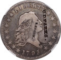 Counterstamps, 1795 50C Flowing Hair Half Dollar, 2 Leaves, O-102, T-26, R.4 -- Private Countermarks -- NGC Details. VF....