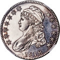 Proof Bust Half Dollars, 1818 50C -- Cleaned -- NGC Details. Proof. O-107, High R.7 as a Proof....