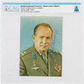 Explorers:Space Exploration, Soviet Union 1970 Visit: Soviet Cosmonaut Alexey Leonov Signed Color Photo Obtained at COSPAR XIII Directly From The Armstrong...