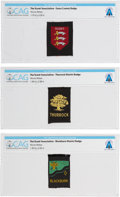 Explorers:Space Exploration, Boy Scouts: Three United Kingdom District Badges Directly From The Armstrong Family Collection™, Certified and Encapsulated by... (Total: 3 Items)
