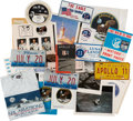 "Explorers:Space Exploration, Apollo 11: Large Varied Collection of Interesting, Displayable, and Informative Collectibles including Illinois ""JULY 20"" Lice..."